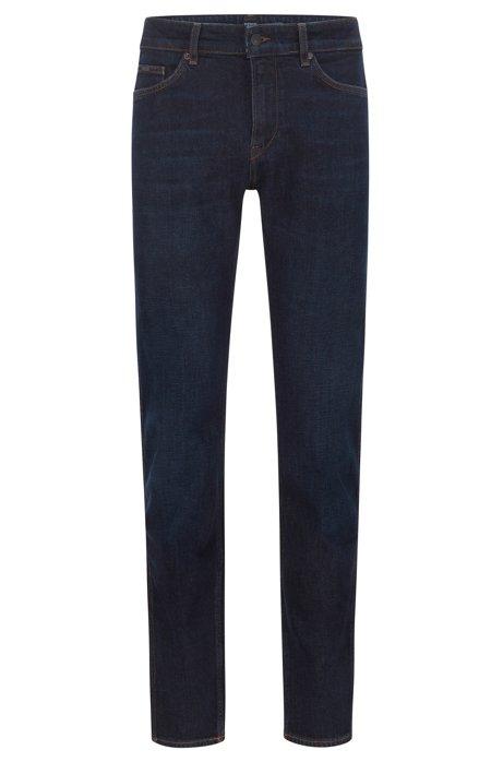 59d3408da18 BOSS - Slim-fit jeans in washed Italian stretch denim