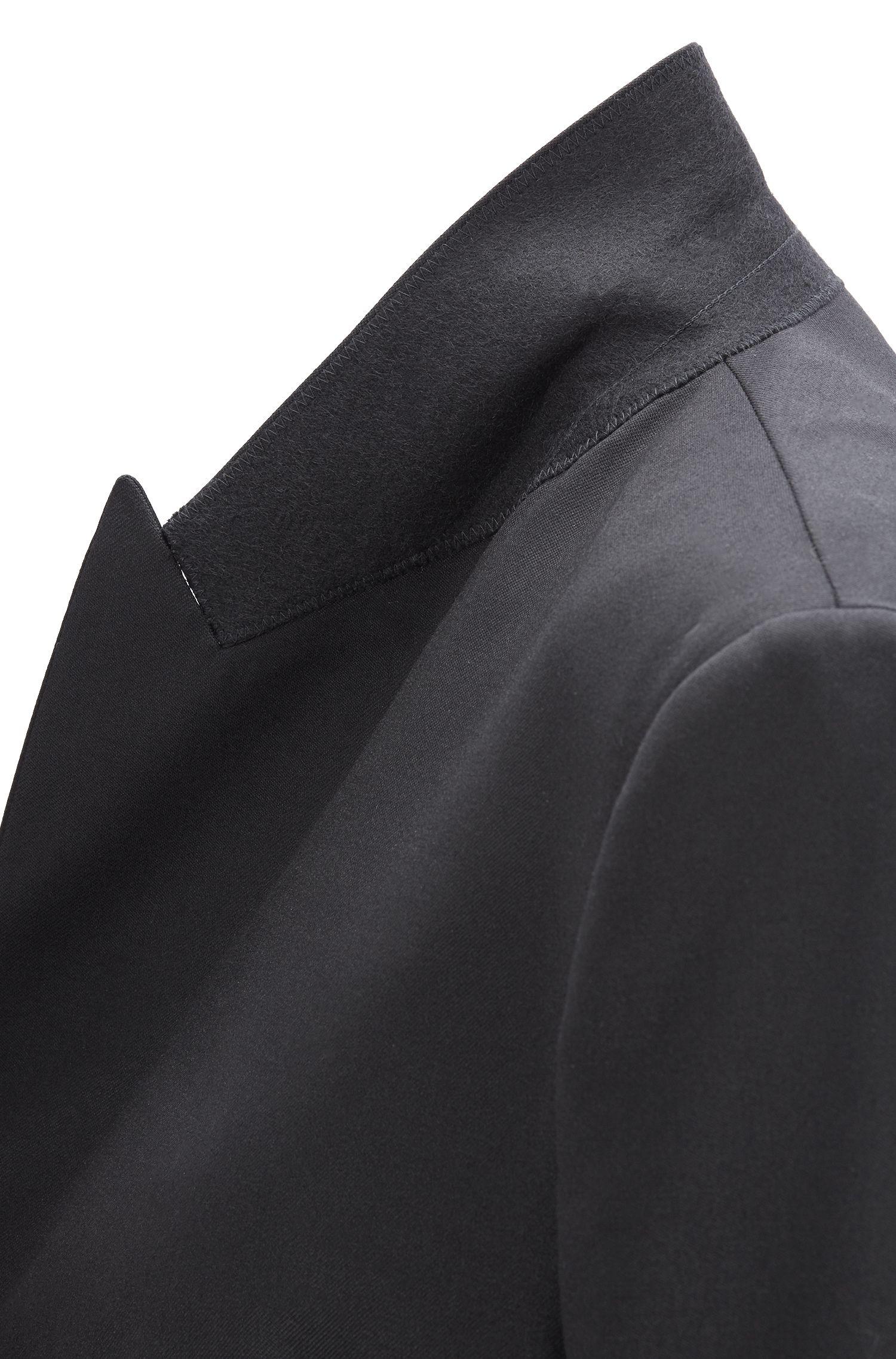 Veste de smoking Oversized Fit en laine vierge stretch italienne, Noir
