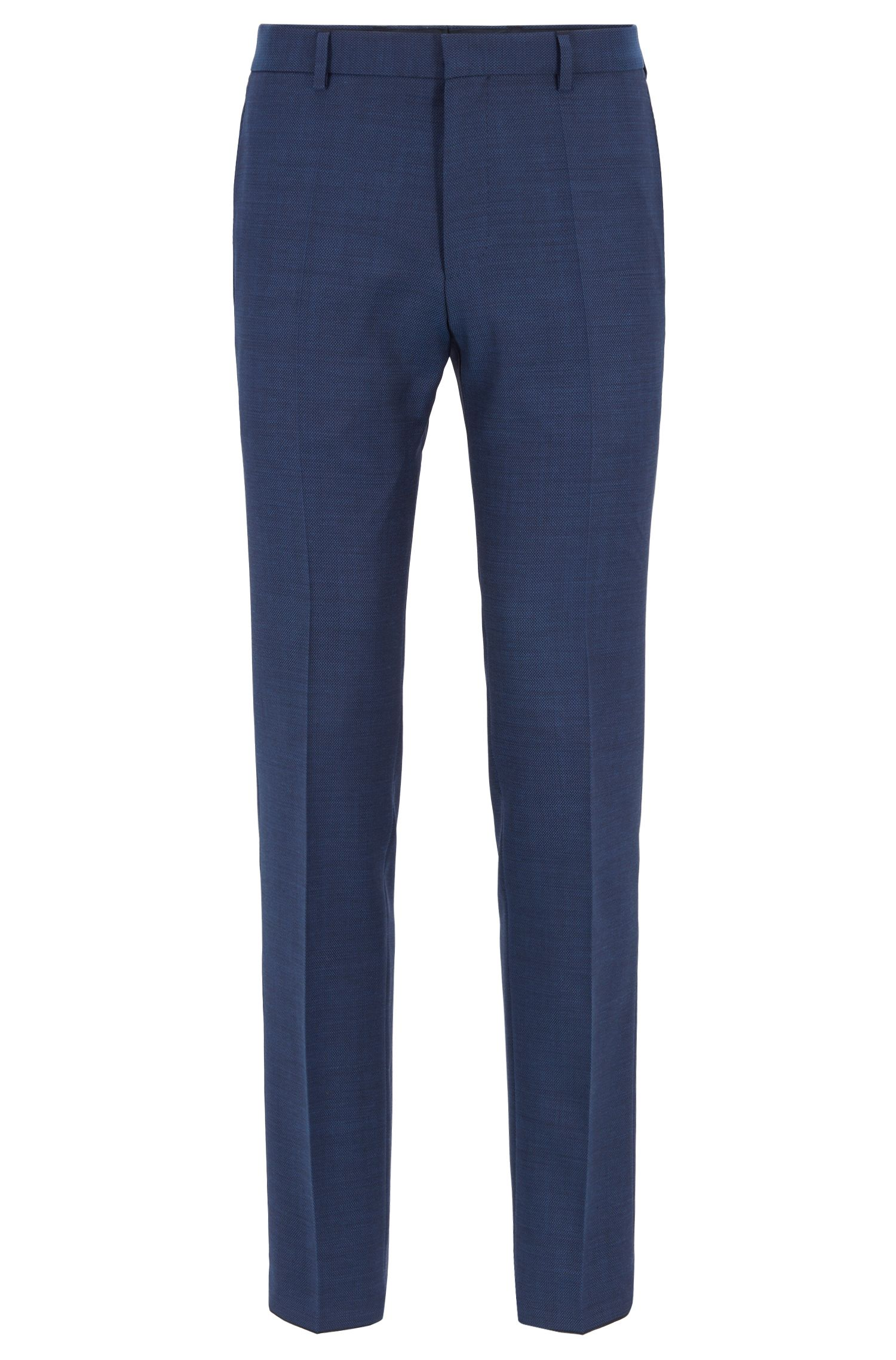 Slim-Fit Anzug aus Schurwoll-Serge, Hellblau