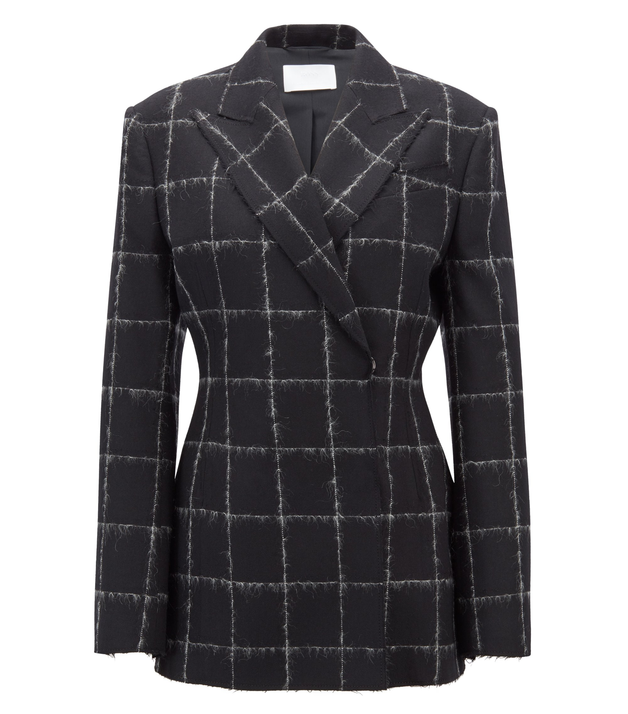 Gallery Collection oversized-fit jacket in a wool blend, Patterned