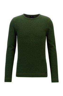 Longsleeve aus Baumwolle mit Waffelstruktur, Grün