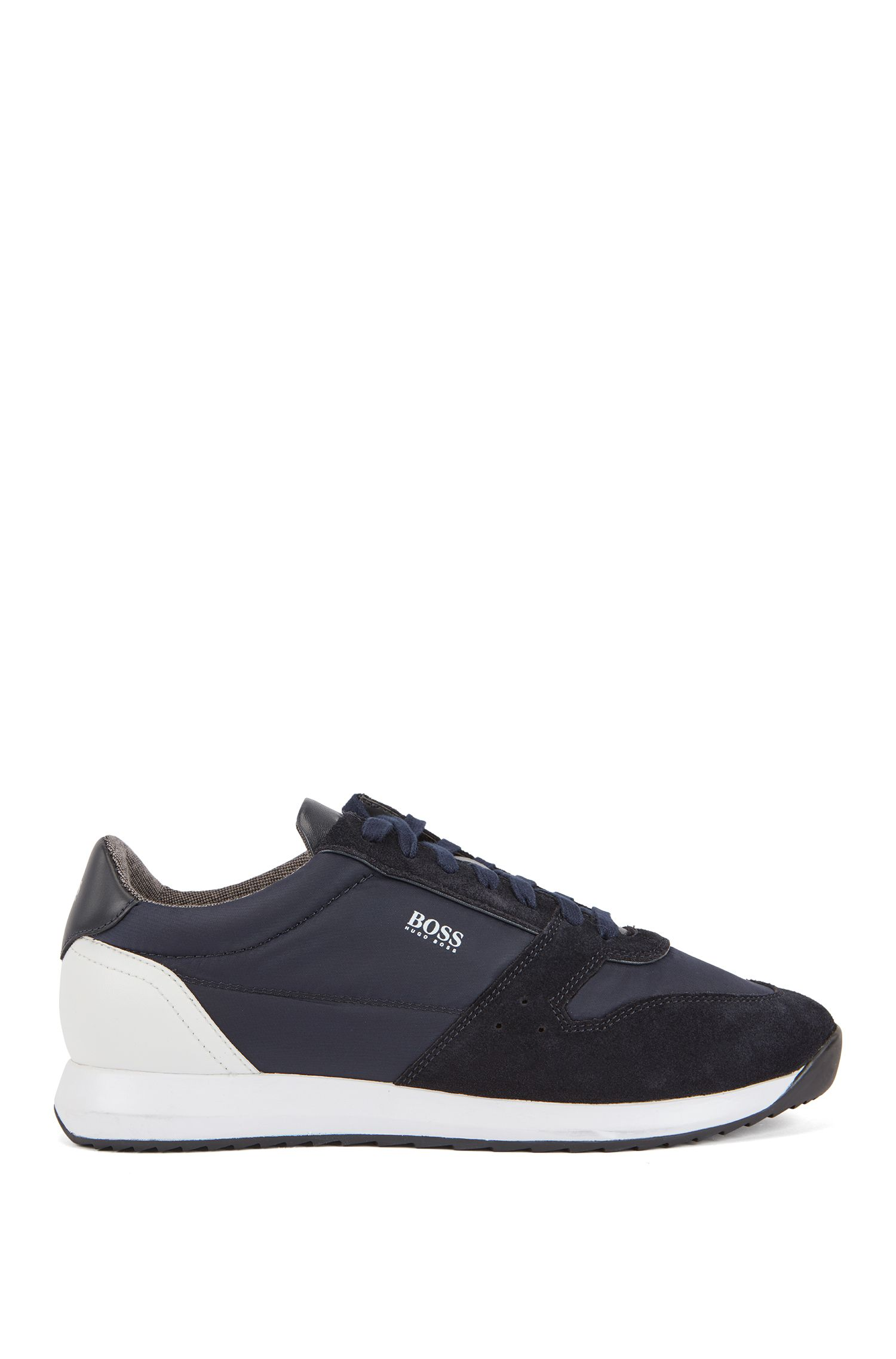 Running-inspired trainers with technical bamboo-charcoal lining, Dunkelblau