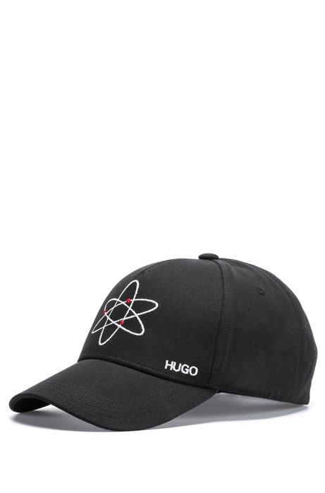 b76661a39311e HUGO - Cotton cap with atom embroidery