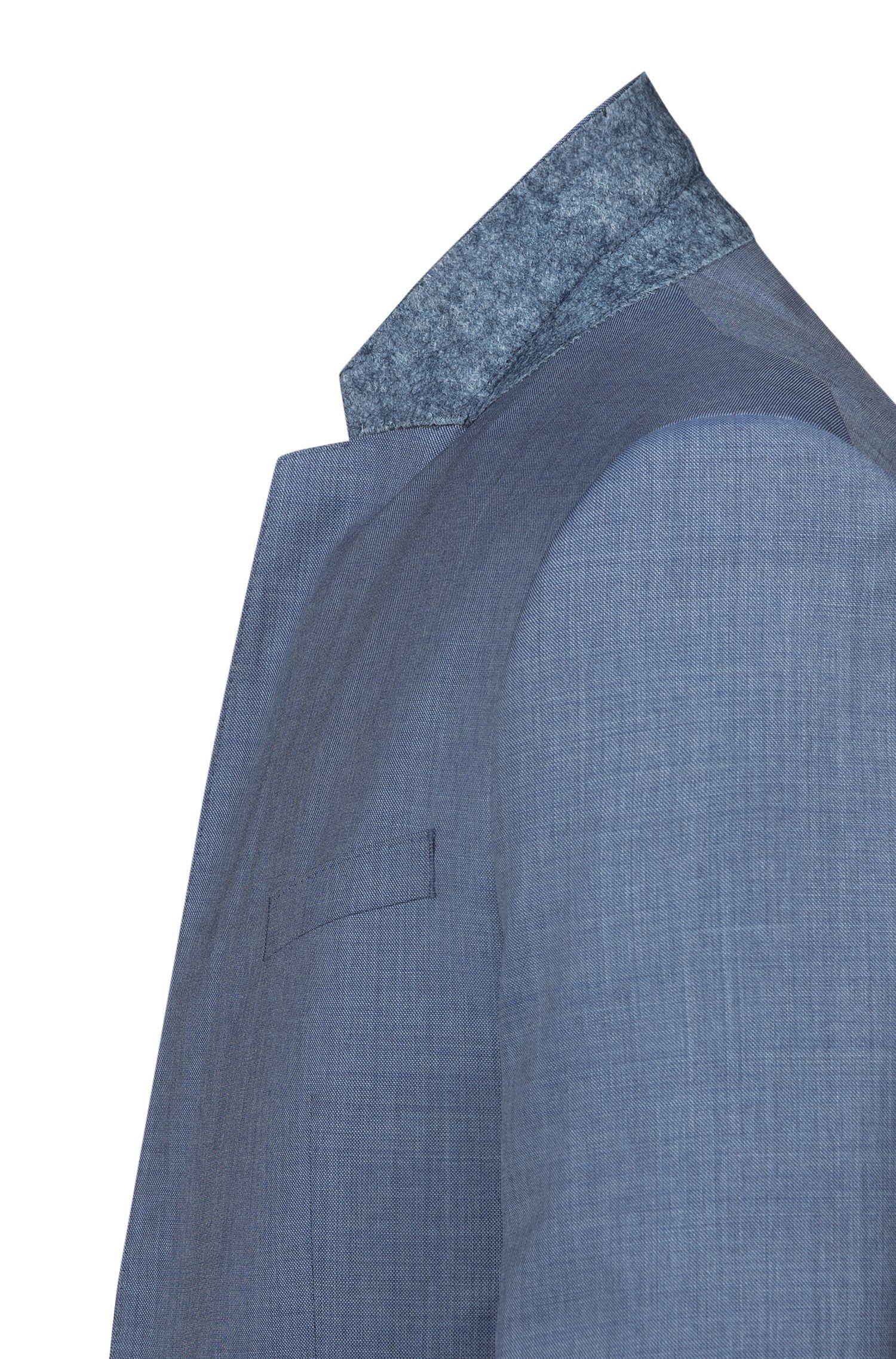 Abito con gilet extra slim fit in lana vergine realizzata in Italia, Blu