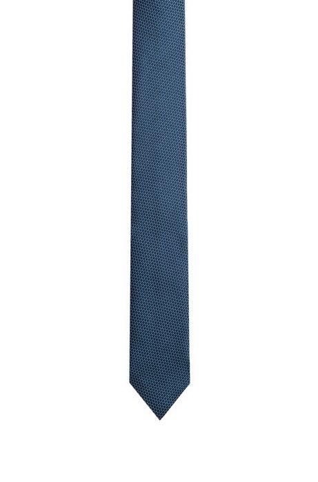 HUGO - Silk tie with jacquard micro pattern 5dffb3947c6