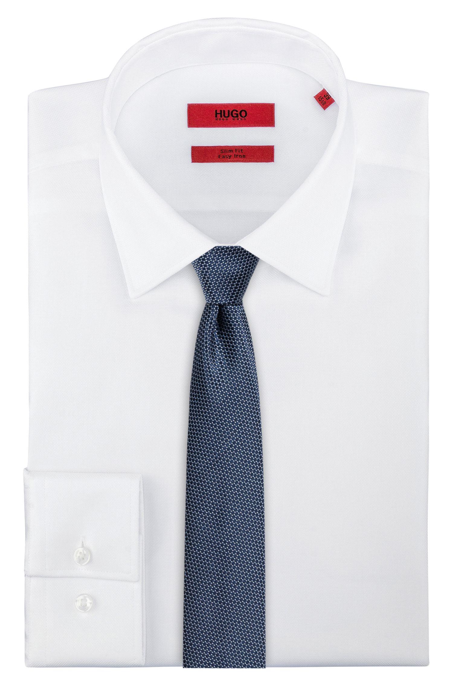 Cravatta in seta con microdisegno jacquard, A disegni