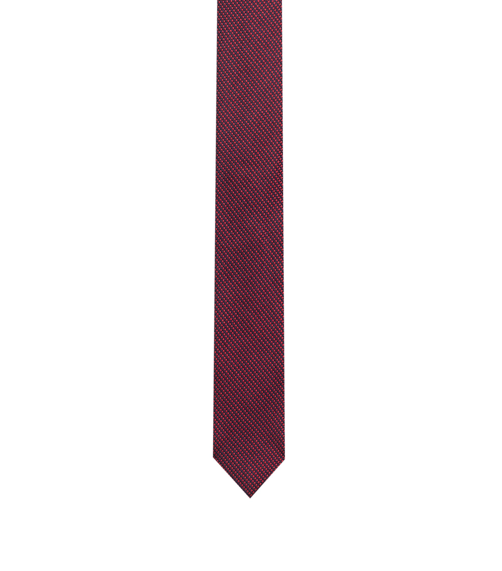Silk tie in a micro-patterned jacquard, Patterned