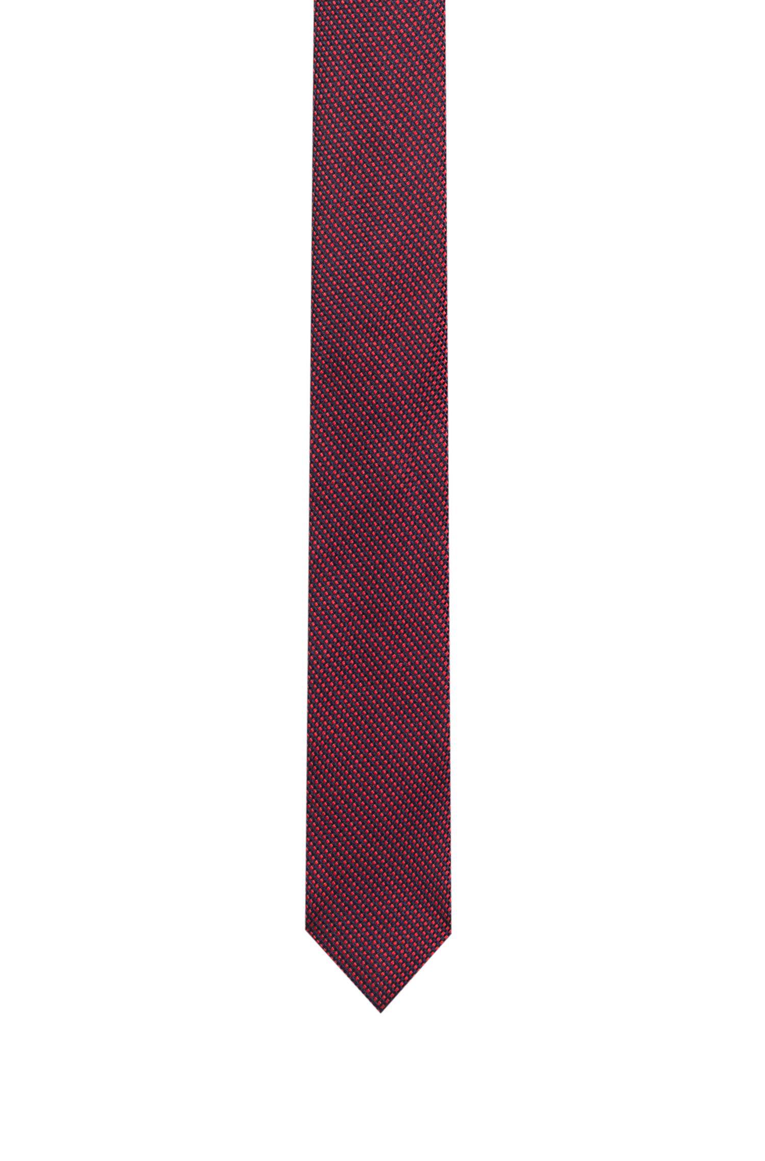 Corbata de jacquard en seda con microestampado, Fantasía