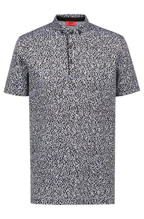 bd4c94b9 HUGO - Slim-fit polo shirt in mercerised cotton jacquard