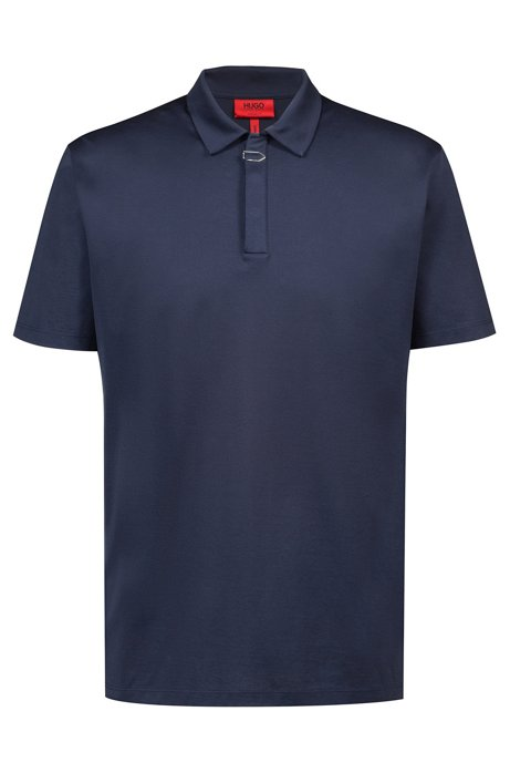 dca646d6b86d6 HUGO - Regular-fit polo shirt in cotton with paperclip detail