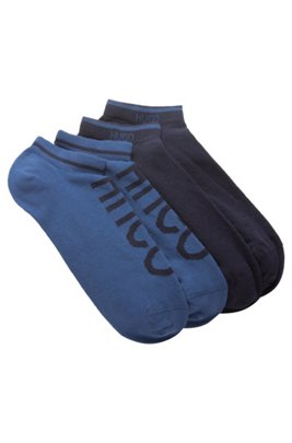 Two-pack of ankle socks in a cotton blend, Dark Blue