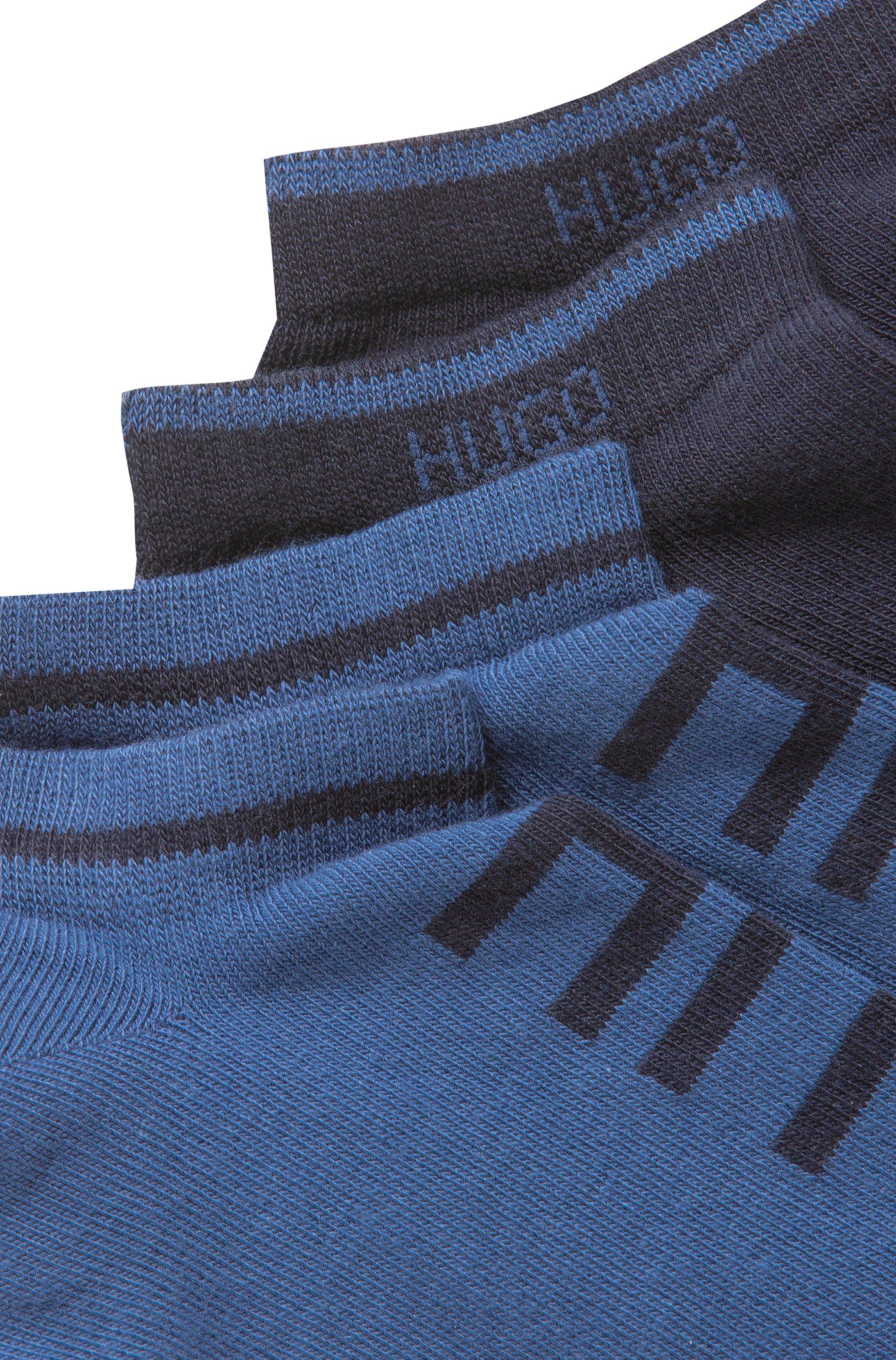 Lot de deux paires de chaussettes basses en coton mélangé