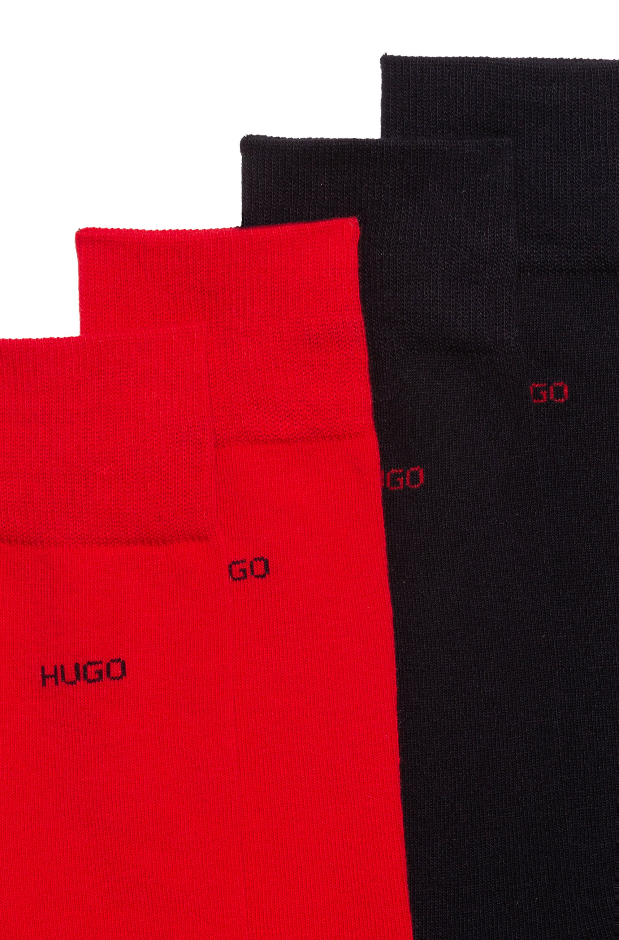 Paquete de dos pares de calcetines de largo normal en mezcla de algodón
