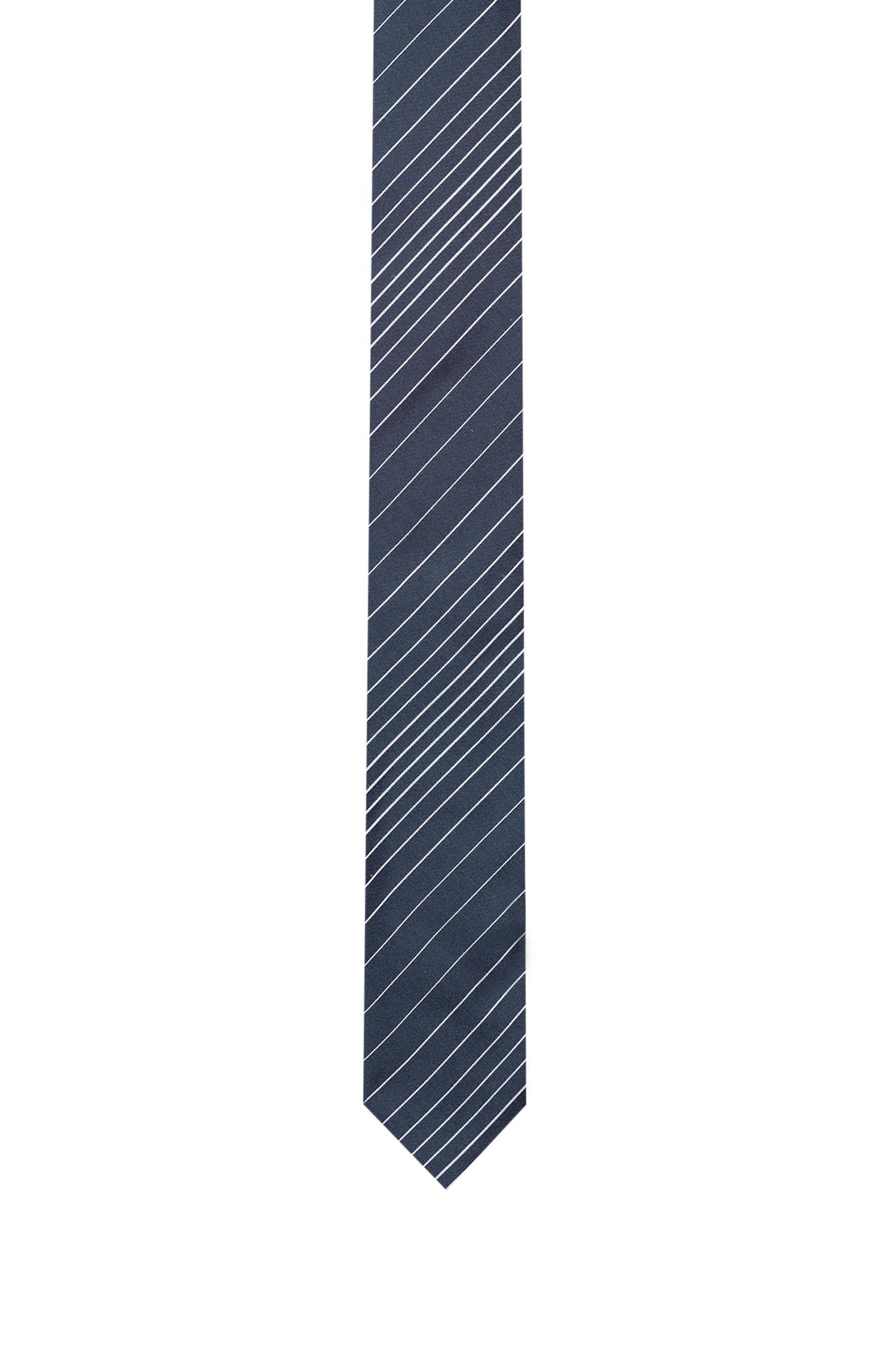 Stropdas in een jacquard van zijde met diagonale strepen, Bedrukt