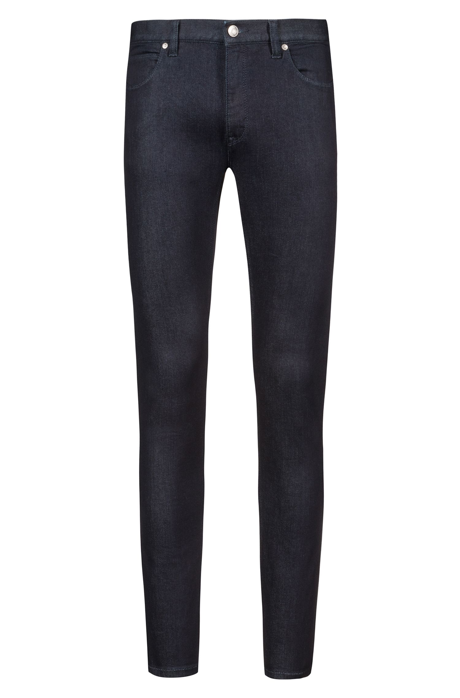 Jean Skinny Fit taille basse en denim stretch, Bleu foncé
