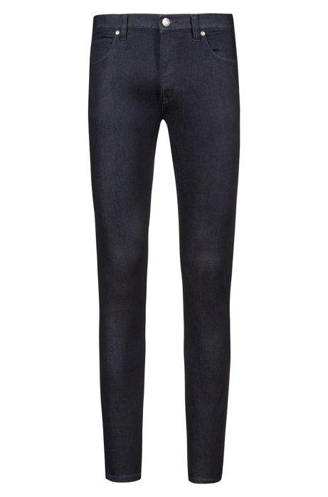 Jeans skinny fit a vita bassa in denim elasticizzato, Blu scuro