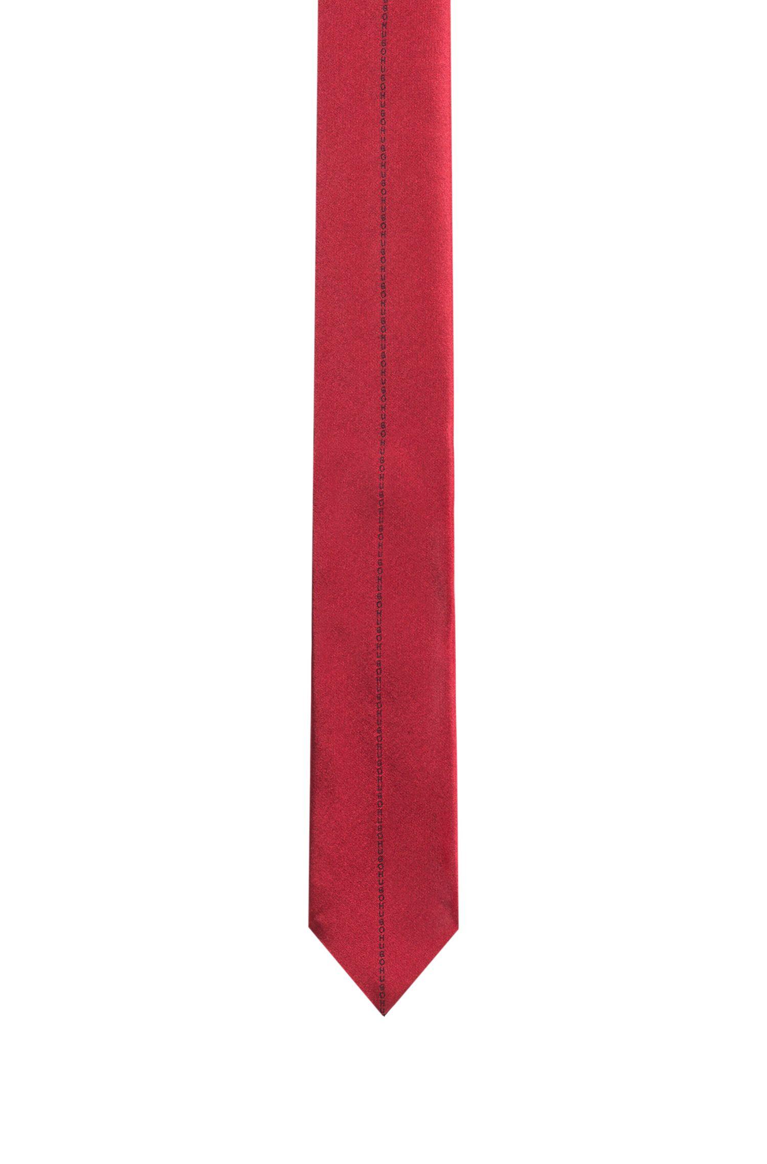 Corbata de 6cm en jacquard de seda, Rojo