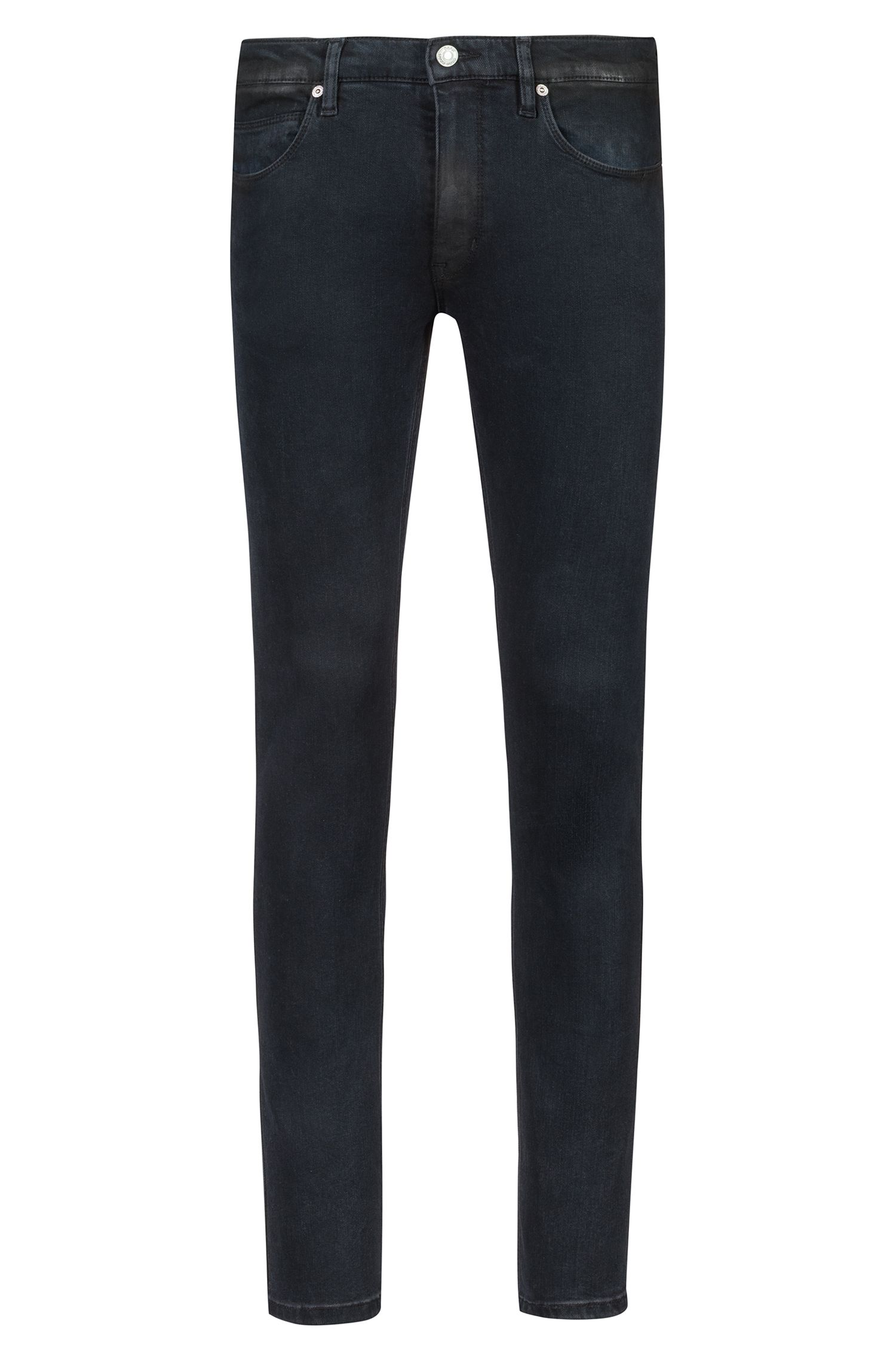 Skinny-fit jeans in black stretch denim, Black