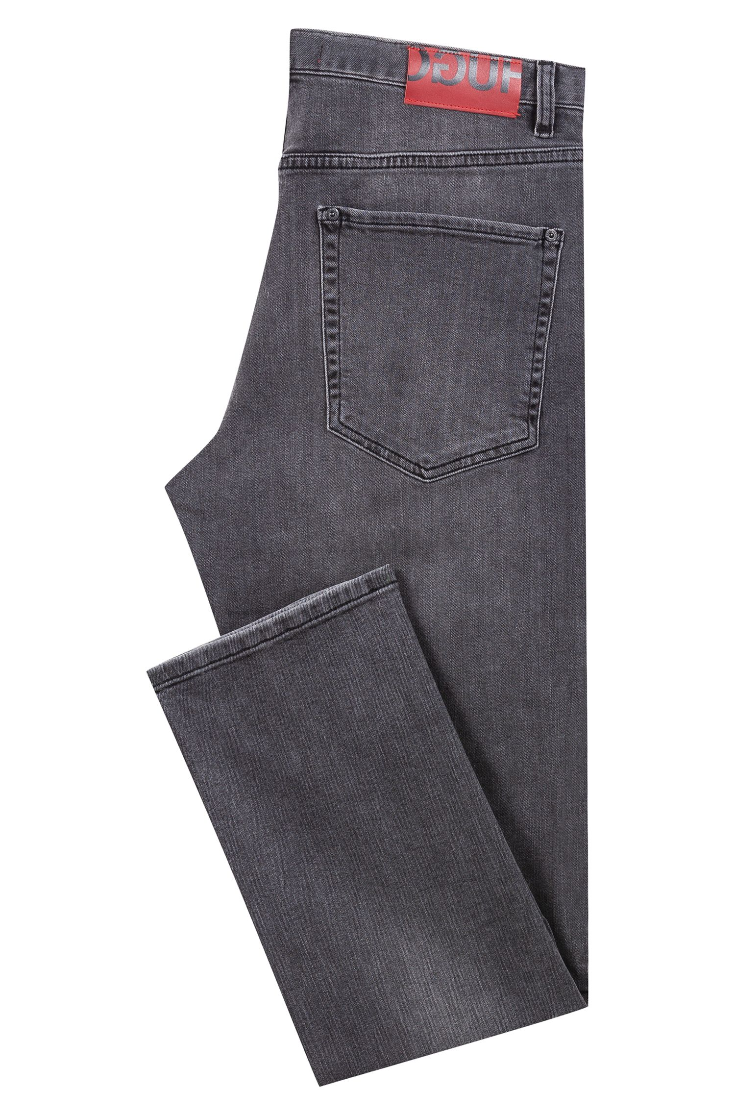Jean Regular Fit en denim stretch gris moyen, Gris