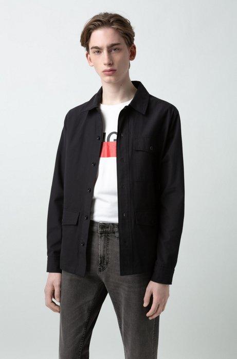Jeans regular fit in denim elasticizzato grigio medio, Grigio