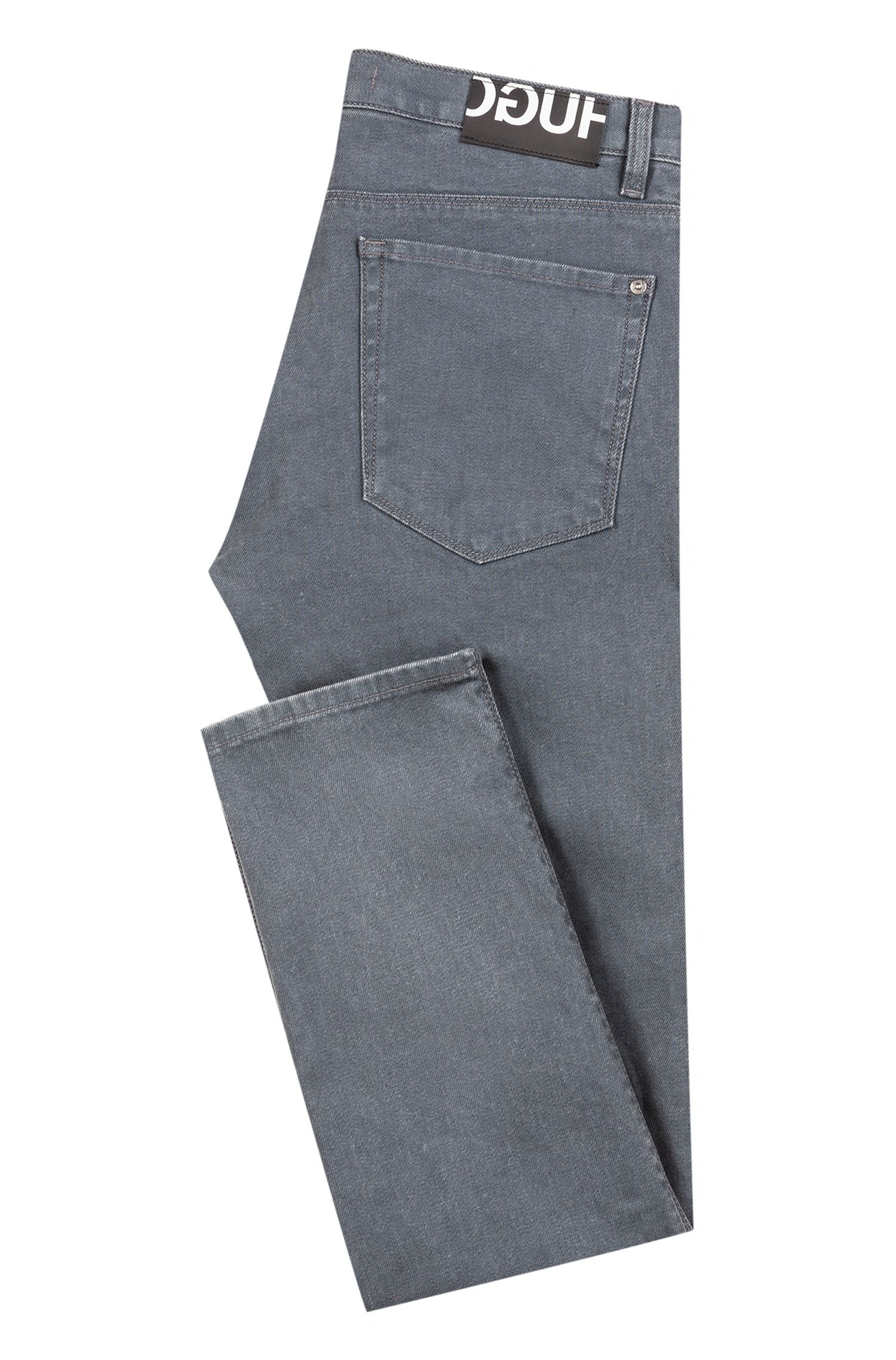 Slim-Fit Jeans aus Stretch-Denim, Grau