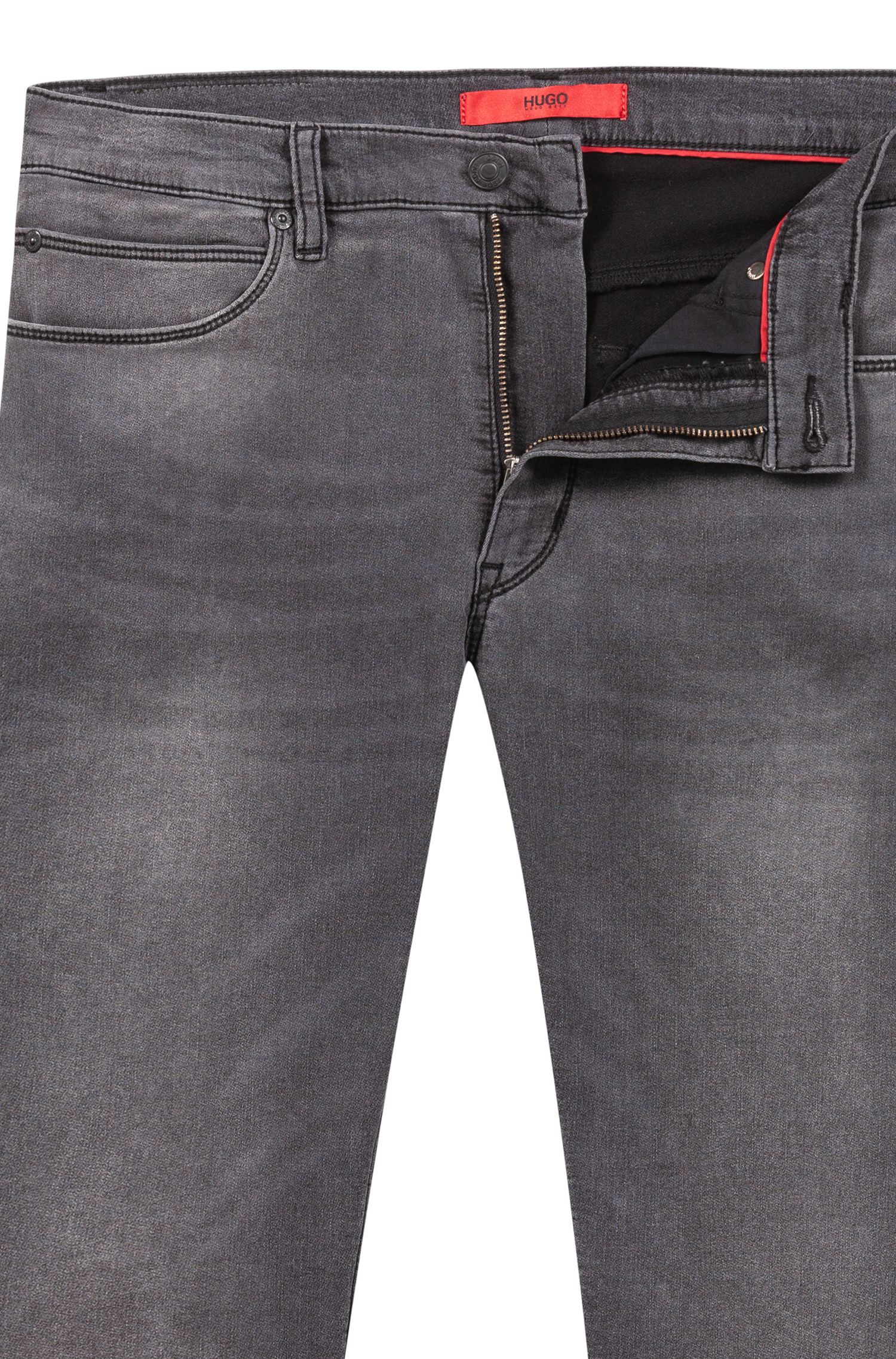Skinny-Fit Jeans aus Stretch-Denim, Anthrazit