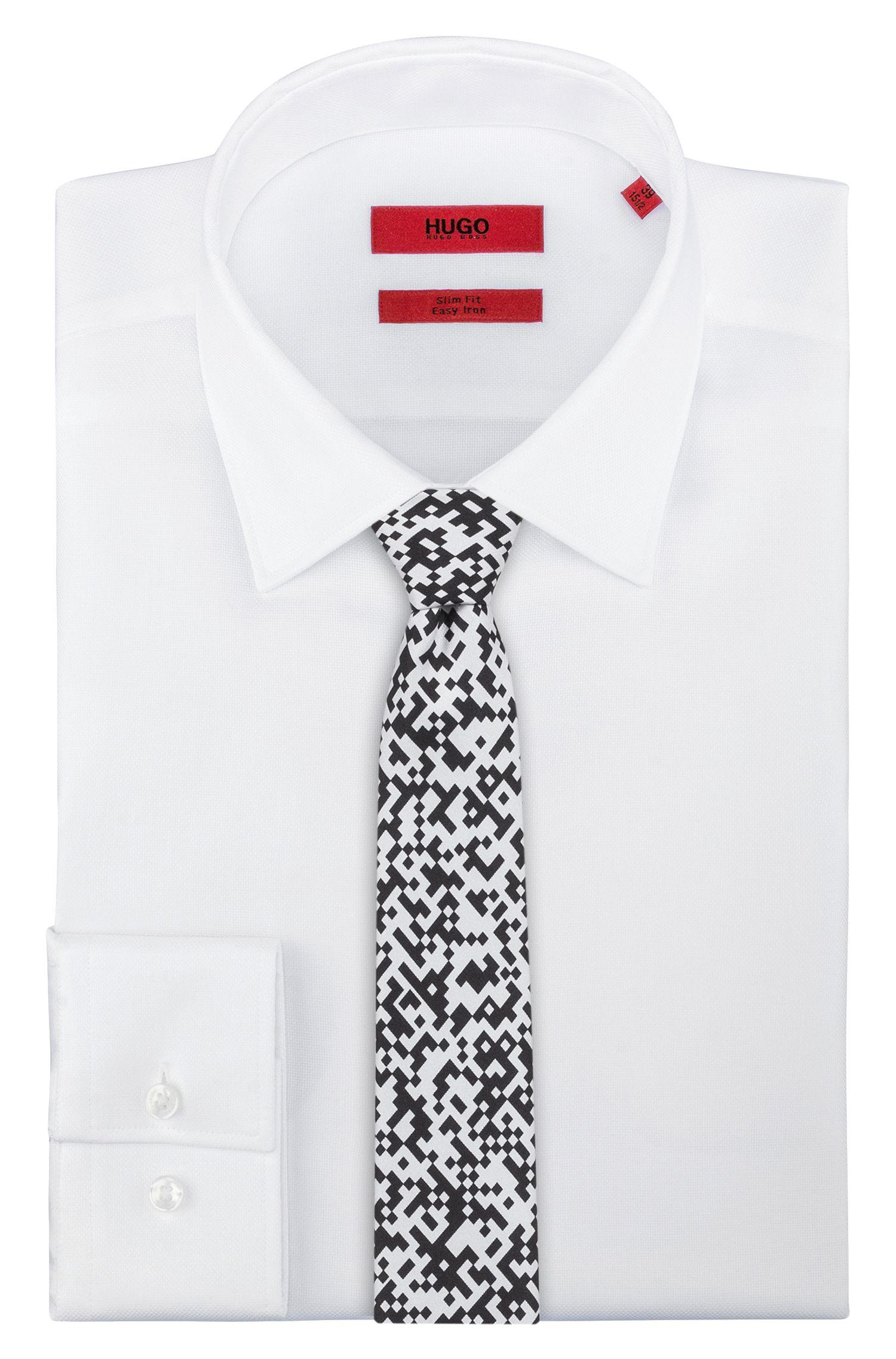 Corbata de seda con estampado de código QR, Fantasía