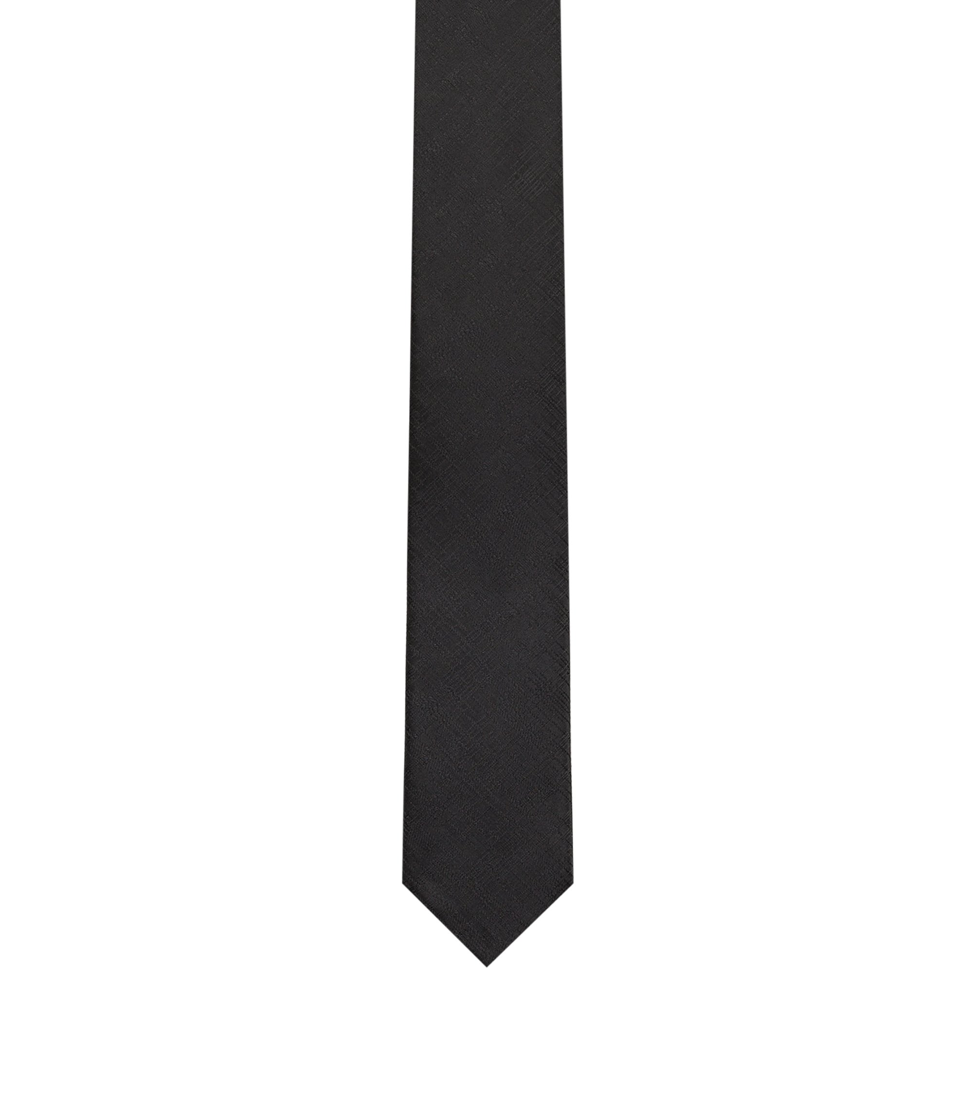 QR-code tie in technical jacquard, Black
