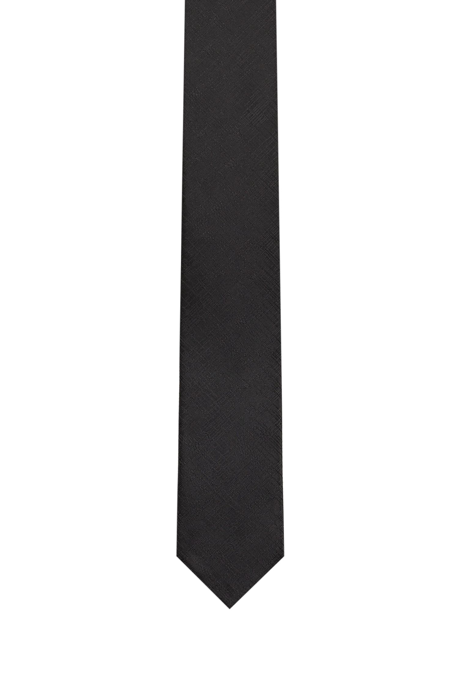 Krawatte aus Jacquard mit QR-Code-Motiv, Schwarz