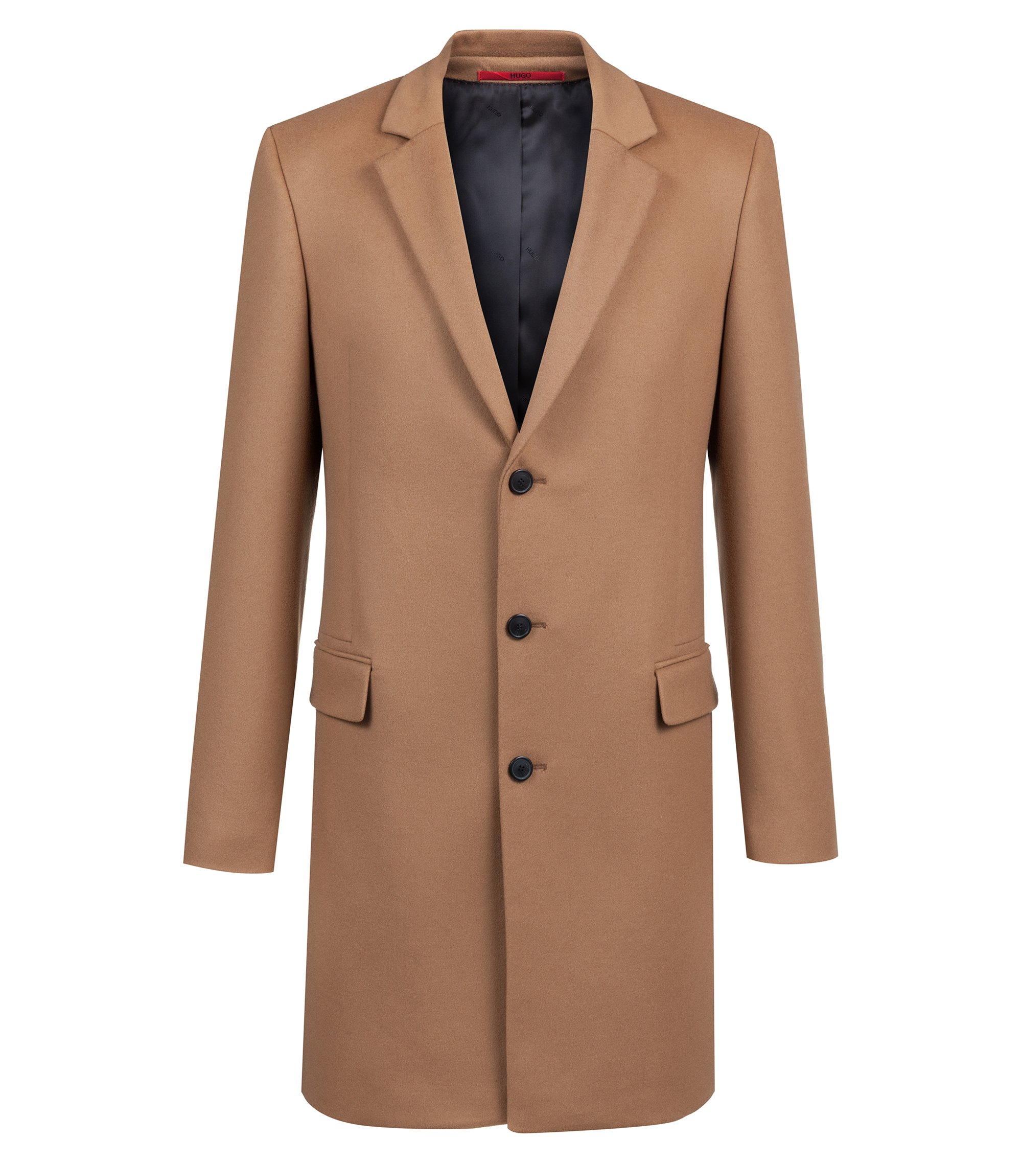 Extra-slim-fit jacket in virgin wool with cashmere, Brown