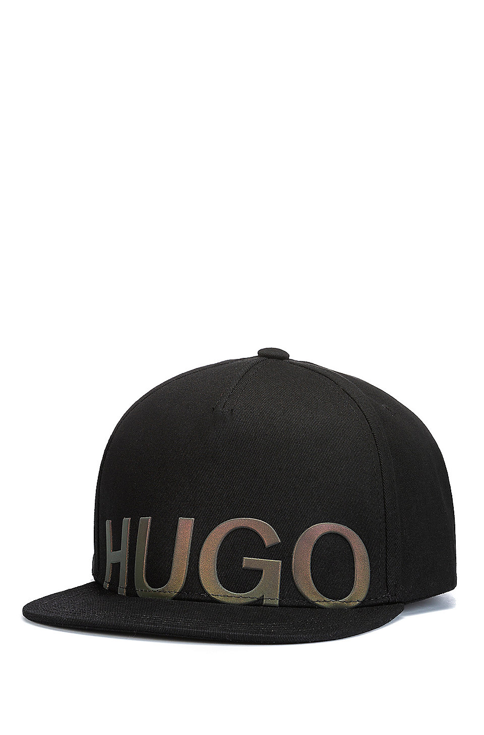 hugo snapback cap aus baumwoll gabardine mit schimmerndem logo. Black Bedroom Furniture Sets. Home Design Ideas