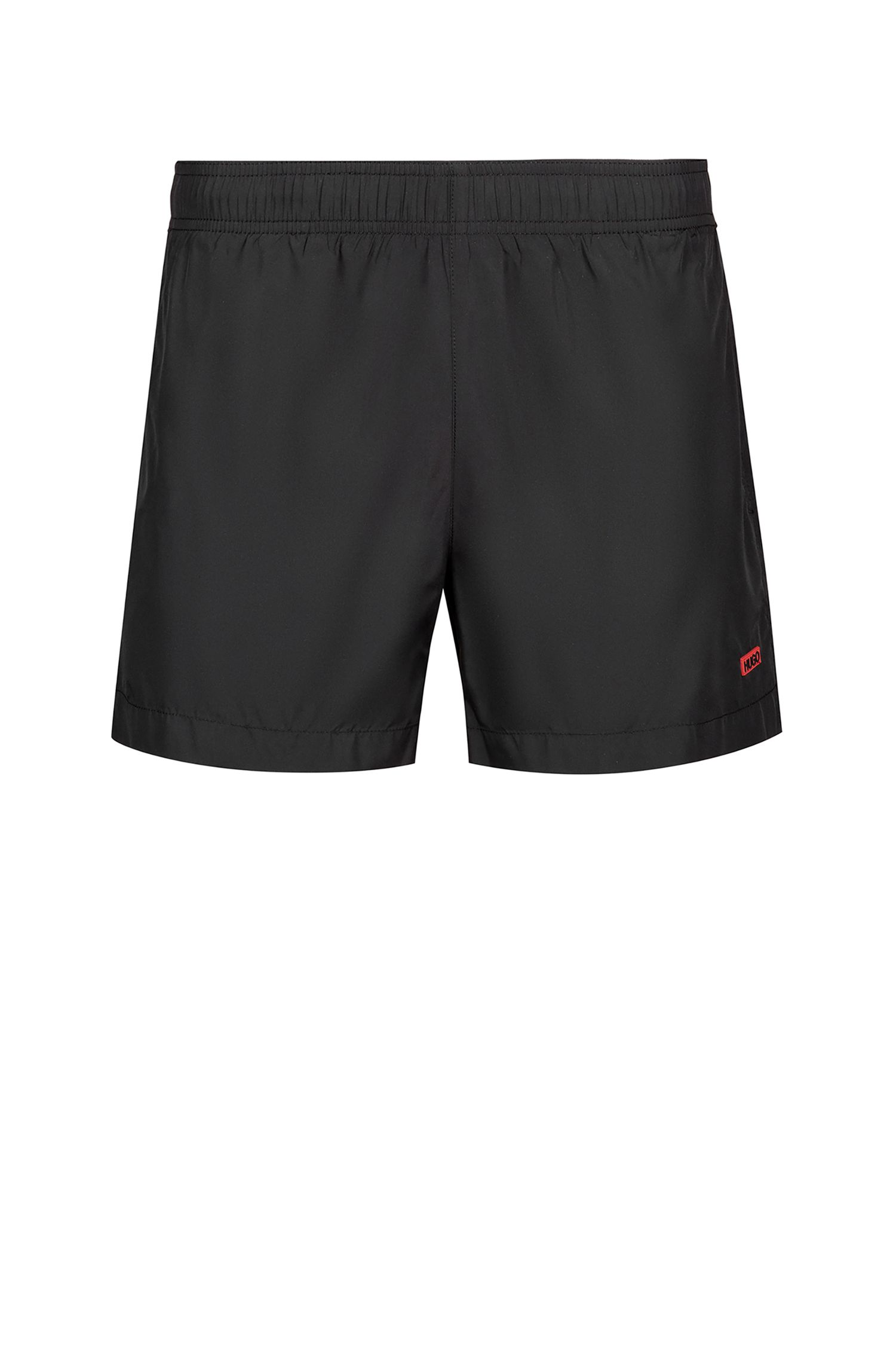 Quick-drying swim shorts with contrast lining, Black