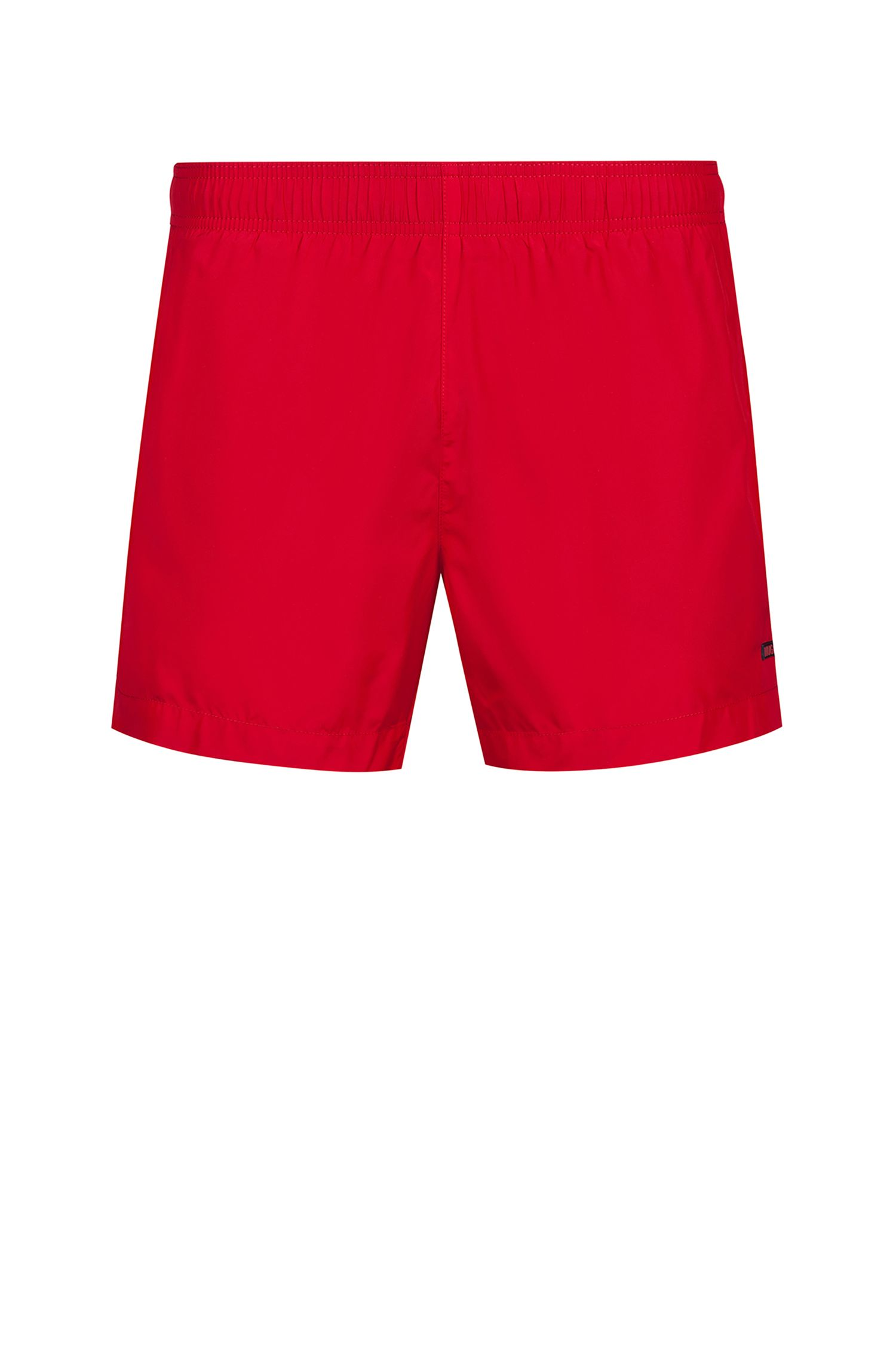 Quick-drying swim shorts with contrast lining, Red