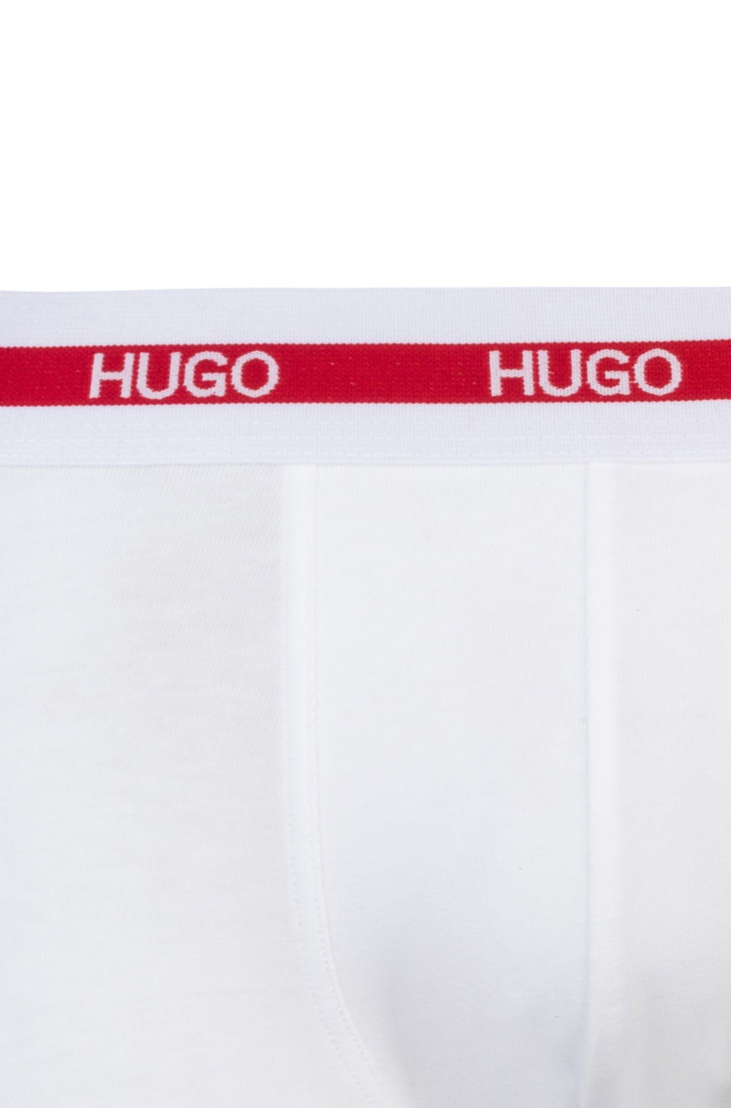 Boxer in jersey di cotone elasticizzato in confezione da due, Bianco