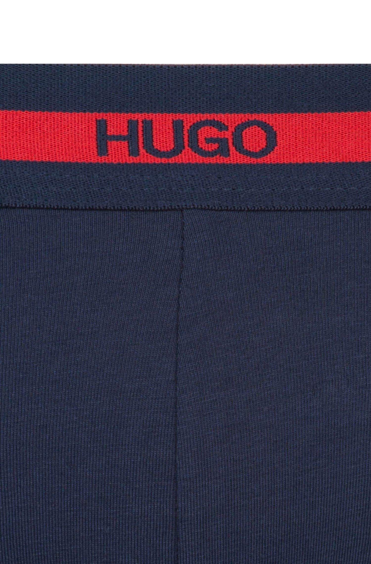 Two-pack of trunks in stretch-cotton jersey, Dark Blue