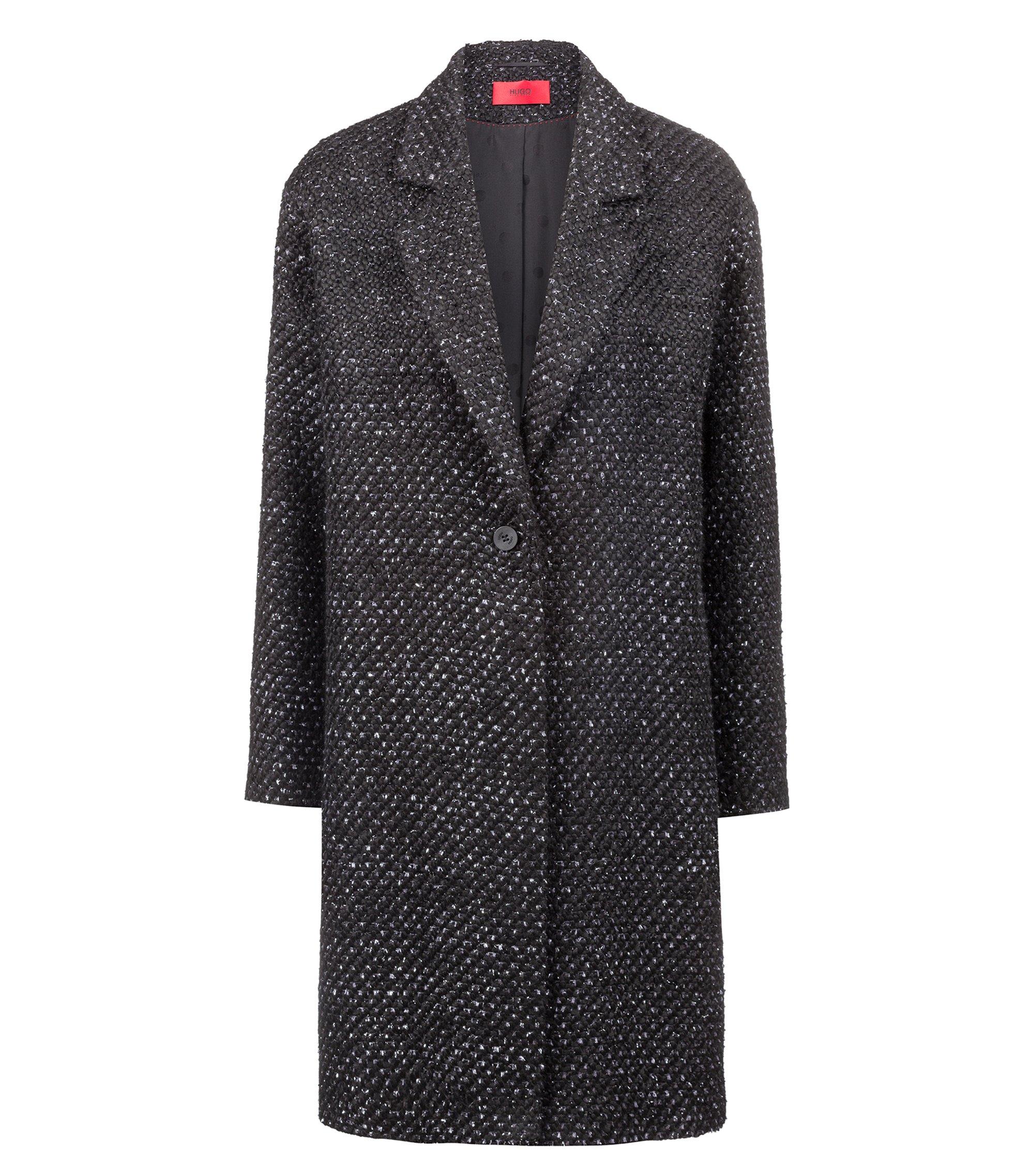Manteau Relaxed Fit intégralement doublé, à la structure bulle, Fantaisie