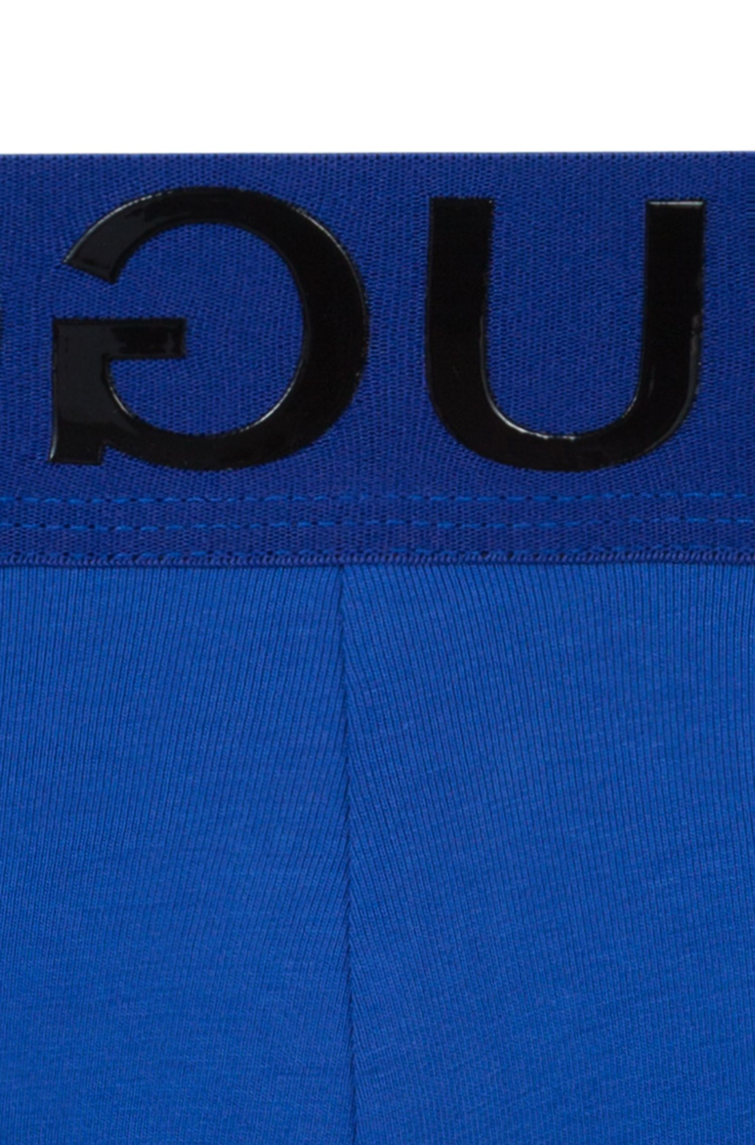 Stretch-cotton trunks with reverse-logo waistband, Blue