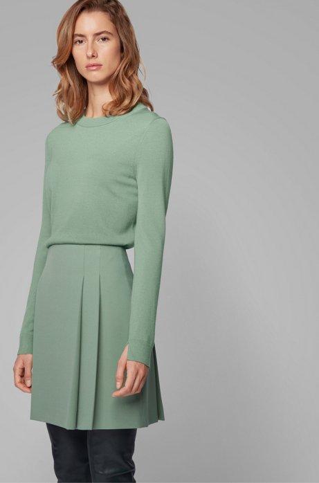 Crew-neck sweater in virgin wool, Light Green