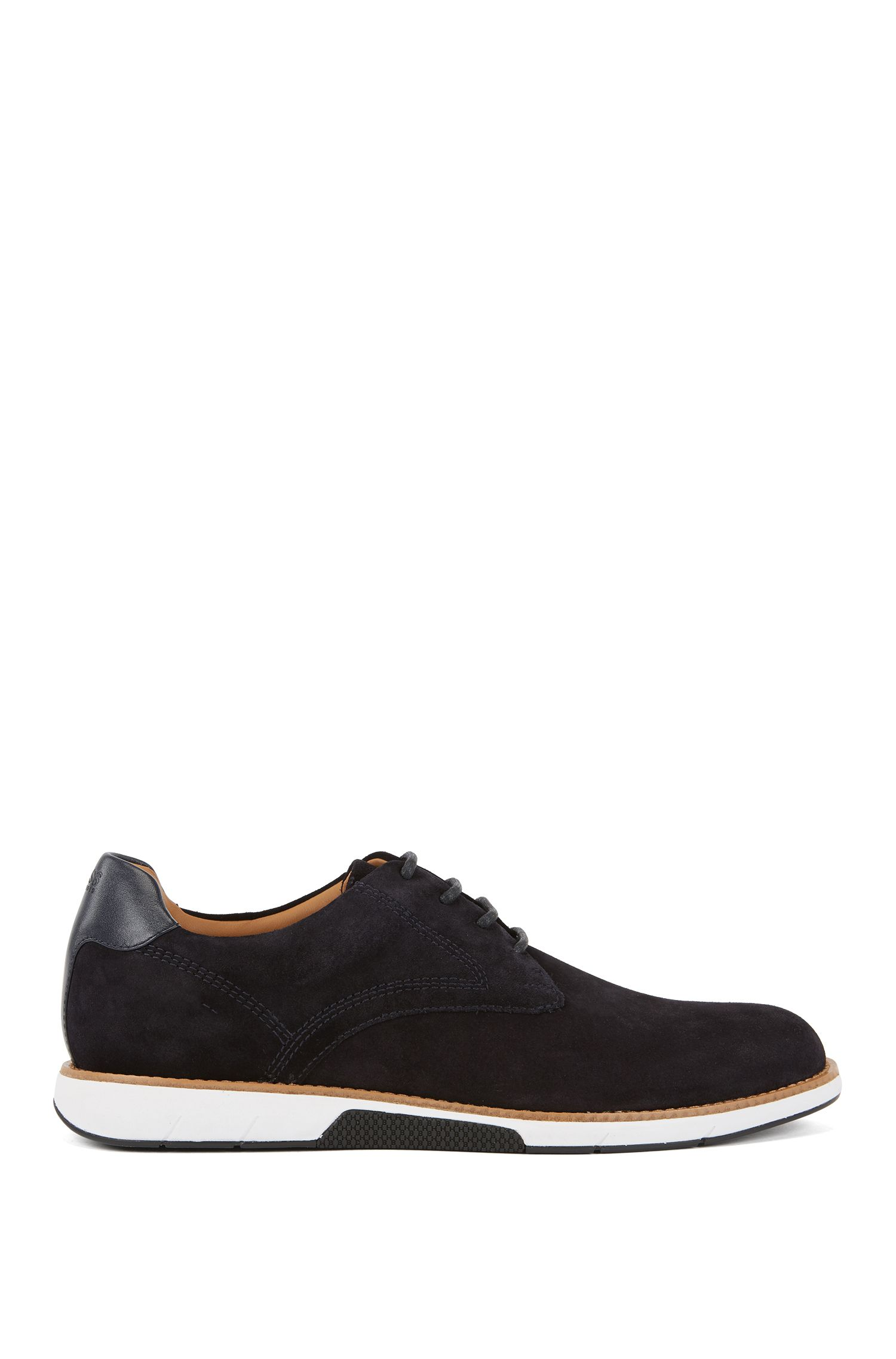 Suede Derby shoes with EVA-rubber sole, Dark Blue