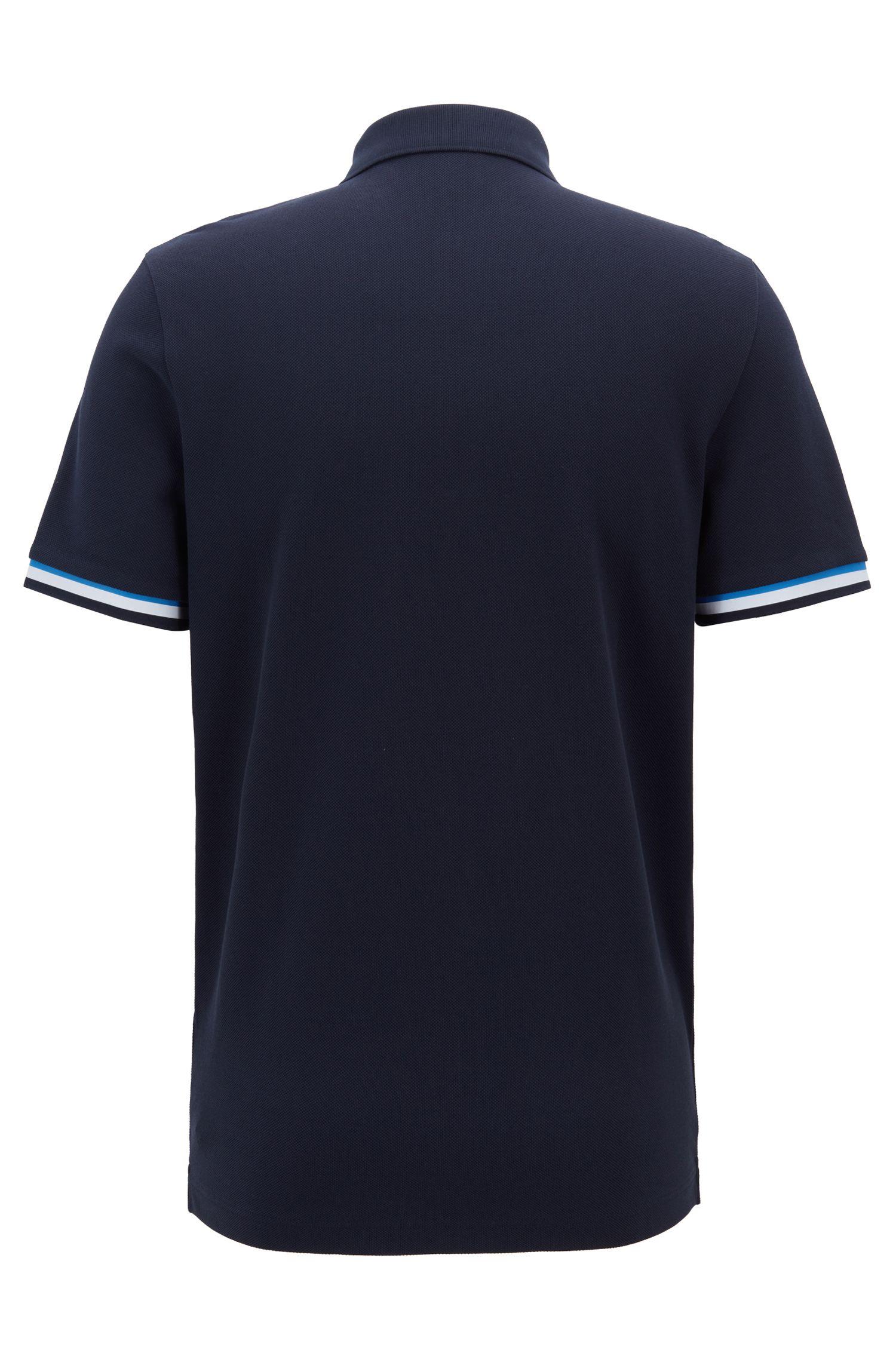 Polo Relaxed Fit en coton à détails color block, Bleu foncé