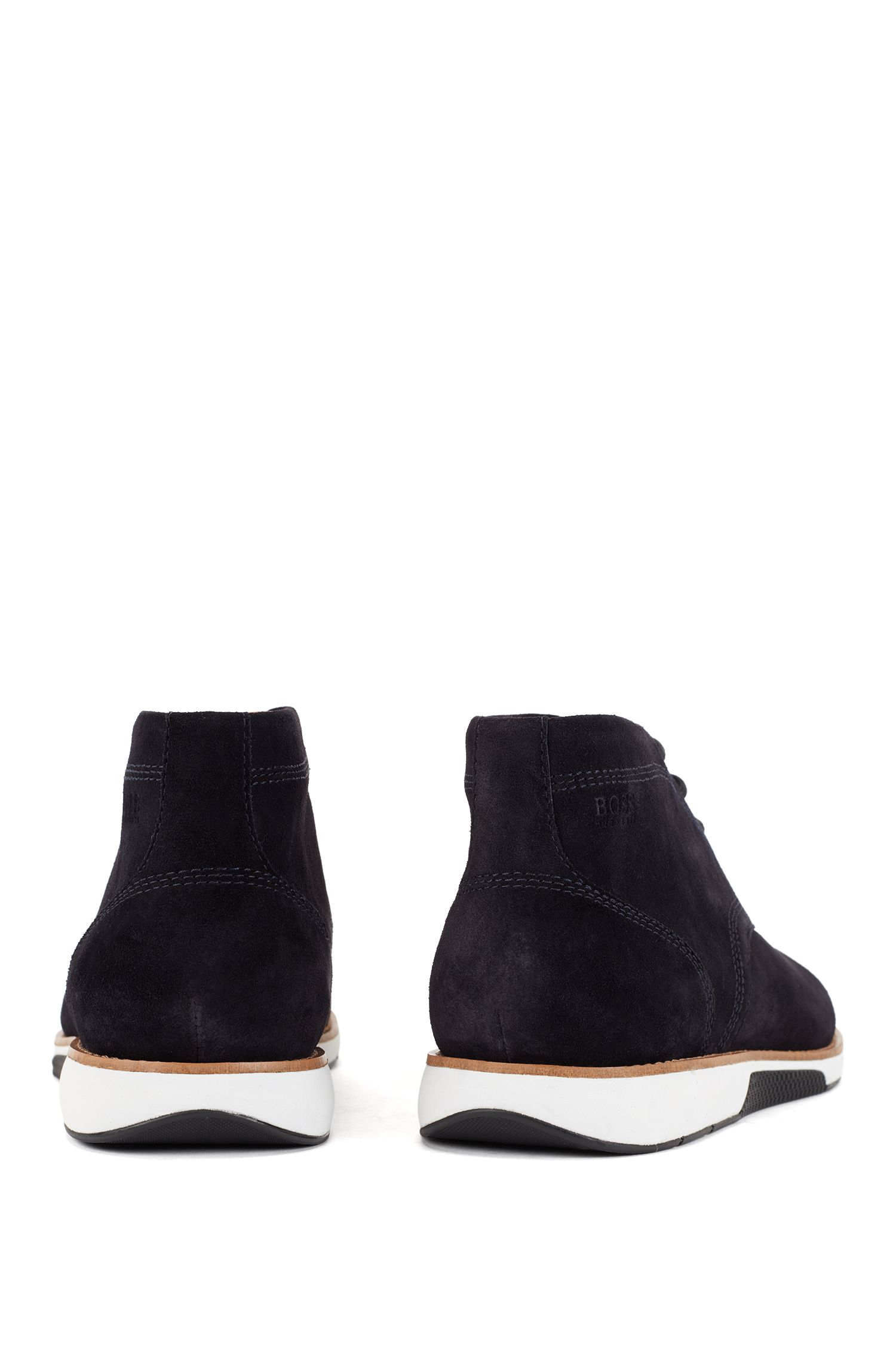 Suede desert boots with EVA-rubber sole, Dark Blue