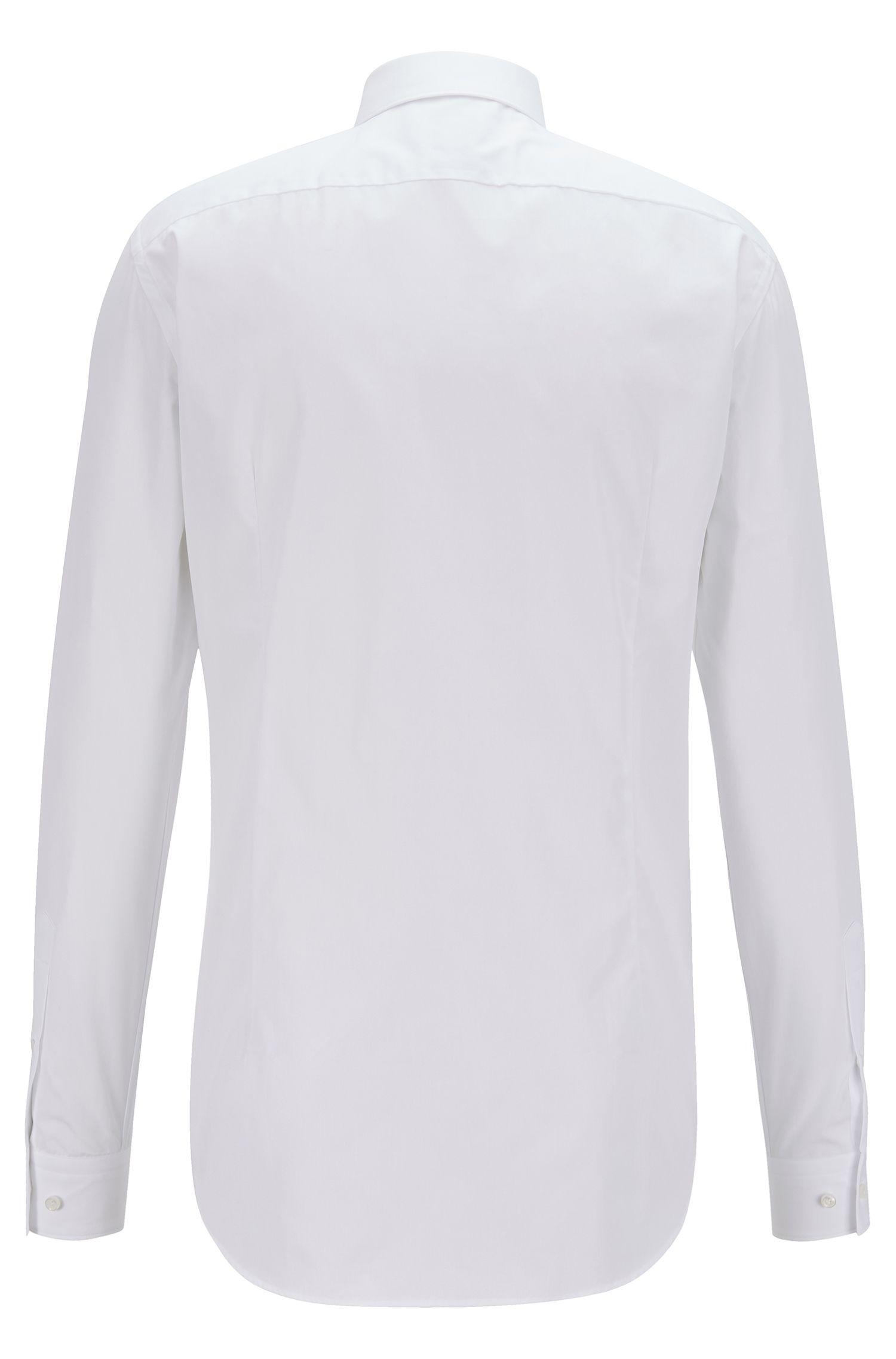 Slim-fit overhemd van Italiaanse katoenen popeline, Wit