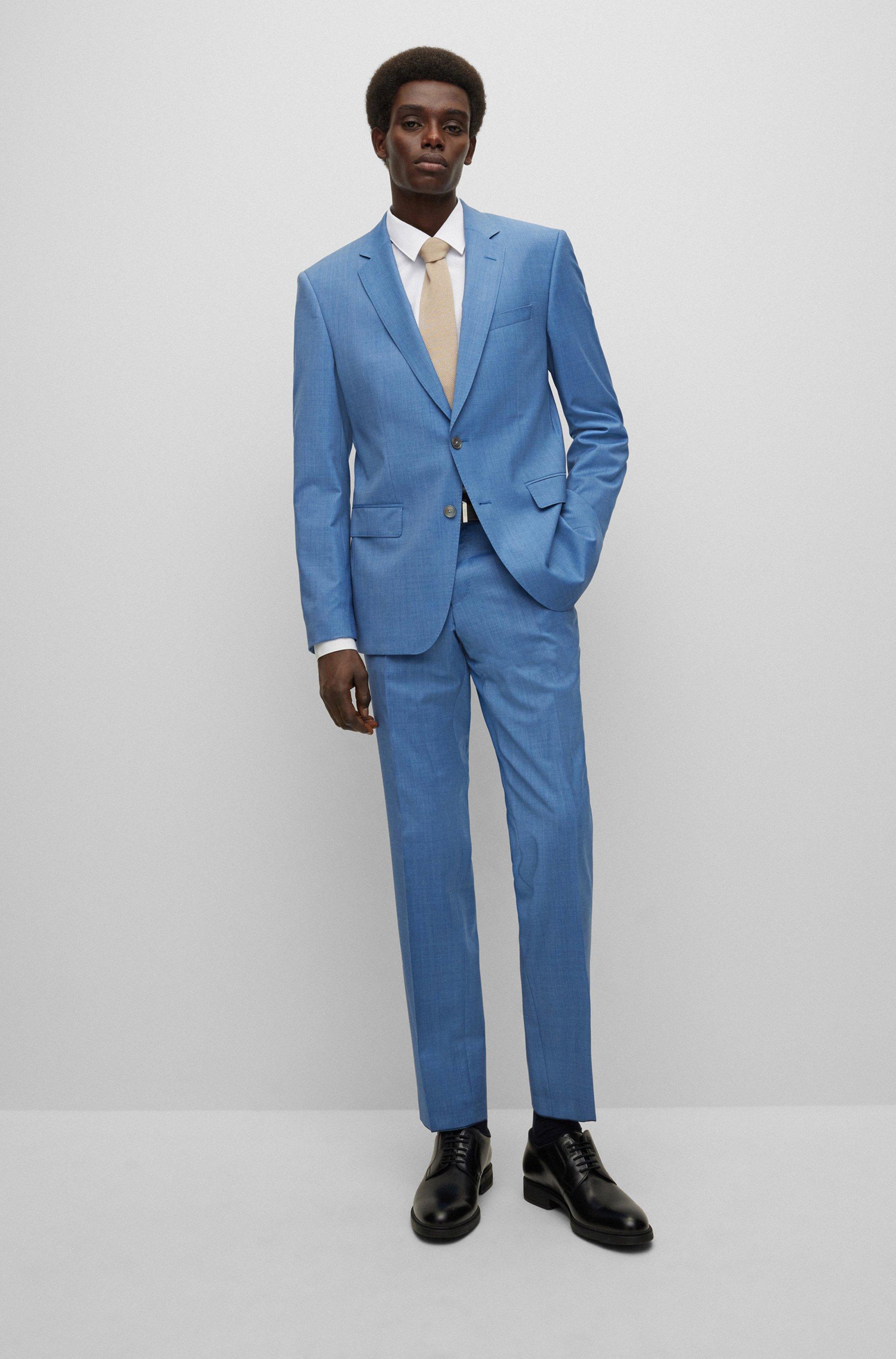 Camisa slim fit de algodón con botones de nácar