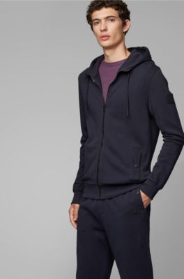 9e04f059f French-terry hooded jacket with rubberised sleeve badge