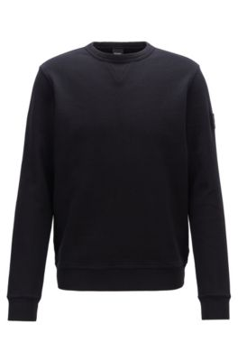 700a865d987 Relaxed-fit sweatshirt in French terry with sleeve badge
