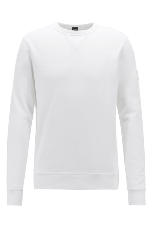 Hugo Boss - Sweatshirt aus French Terry mit Logo-Aufnäher am Ärmel - 1
