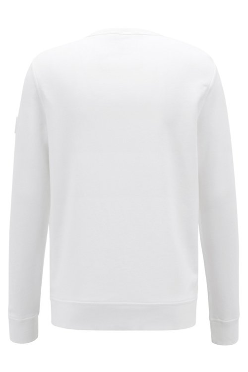 Hugo Boss - Sweatshirt aus French Terry mit Logo-Aufnäher am Ärmel - 4