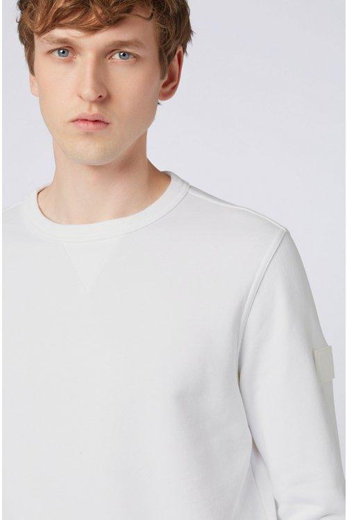 Hugo Boss - Sweatshirt aus French Terry mit Logo-Aufnäher am Ärmel - 3