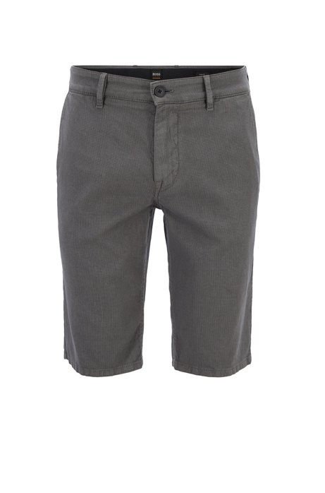 264ecd05 BOSS - Slim-fit chino shorts in structured stretch cotton
