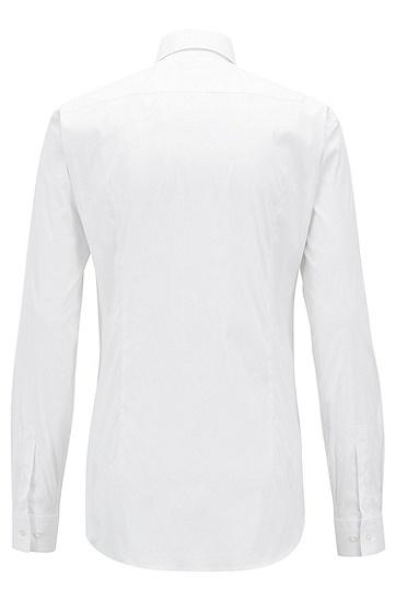 男士棉质修身正装衬衫,  100_白色